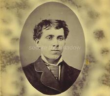 CABINET CARD PHOTO: Post Mortem MEMORIAL Good-Looking YOUNG MAN in JACKET & TIE