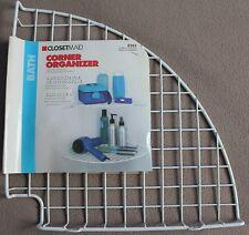 New Closetmaid 8282 White Corner Wire Mesh Shelf Organizer w/ Mounting Hardware