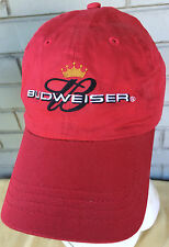 Budweiser Beer Red Anheuser Busch Strapback Baseball Cap Hat
