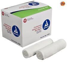 "Conforming Stretch Gauze Bandages 4"" Non Sterile 96 Rolls Per Case Dynarex New"