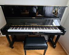 Yamaha u1 klavier schwarz mit höhenverstellbarem Andexinger Klavierhocker