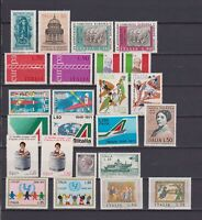 ITALIA MNH 1971 Complete Year set 24v Annata Completa NO L 100 PA s16978