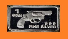 New 1 gm. Whason Mint .999 silver bar - 0.38 style pistol  ++ADD-ONs available!