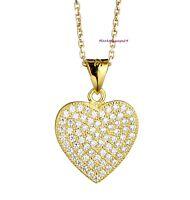 LOVE Herz Kette Echt 925 Silber Rosegold Gelbgold vergoldet Geschenke für Frauen