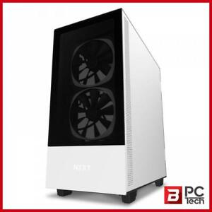 NZXT H510 Elite Tempered Glass Mid-Tower ATX Case - Matte White