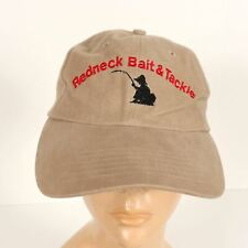 Redneck Bait & Tackle Khaki Tan Strapback Cap Hat New