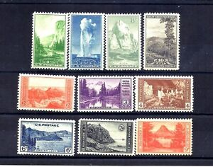 US Stamps - #740-749 - MNH - 1 - 10 cent National Parks Issues -  CV $15