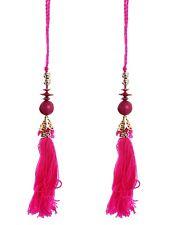 Indian Latkan Beads Fringes Pink Colored Bohemian 10 PCS Tassels Ethnic Dresses