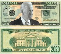 JOE BIDEN Money 2020 Dollar Bill - Pack of 25 Made In America Looks/Feels Real
