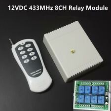 DC12V 8CH Channel Wireless RF Remote Control Receiver Relay Switch ON OFF