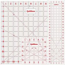 Quilters Starter Kit - Contains 3 x Must Have Rulers With Imperial Markings