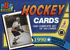 Bowman 1990 Premier Edition NHLPA Hockey Complete 264 Card Factory Set