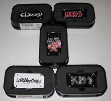 Wholesale Lot Of 8 Rock Band Butane Lighters in Collector Cases, Brand New
