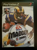 Madden NFL 2003 Sony PlayStation 2 WITH CASE & MANUAL BUY 2 GET 1 FREE