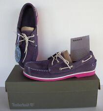 NWB Timberland Peaks Island 2-Eye 6897R New Youth GS Kids Purple Pink Boat Shoes