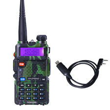 BAOFENG UV5R FM Radio Dual Band UHF VHF 2 Way Ham Walkie Talkie+Program Cable 5R