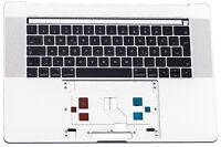 "Apple Macbook Pro Retina 15"" A1707 Topcase Tastatur Cover Gehäuse 2016 Silber"