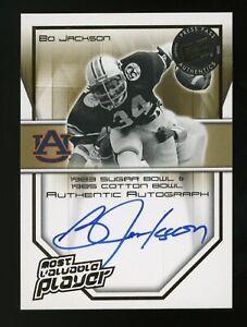 2008 Press Pass Legends Bowl Edition Bo Jackson Auburn AUTO 10/15 On Card