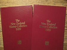 New Zealand stamp collection 1989 hardcover book w/sleeve stamps included