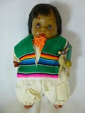 "Vintage Wax Doll 10"" Eskimo American Indian Child"