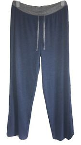 F&F Cotton Casual Lounge Leisure PJ House Pants Large Blue Grey Warm Comfort New