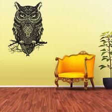 Wall Vinyl Sticker Bedroom Decal Owl Bird Tattoo Mandala Tribal (Z2377)