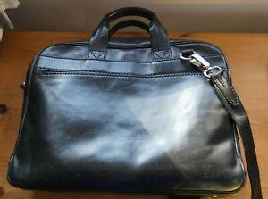 """Fabulous Vintage """"The Bridge"""" Black leather briefcase"""