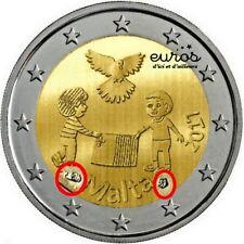 2 euros commémorative MALTE 2017 - La Paix - Poinçon de la Monnaie de Paris  UNC