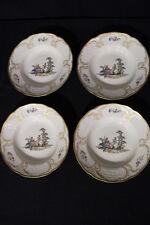 """Set of 4 MINT Rosenthal Sanssouci Hoeroldt-Arkadien ARCADIA 9"""" Lg Rim Soup Bowls"""