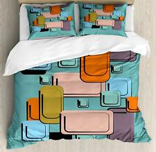 Colorful Cartoon Duvet Cover Set Twin Queen King Sizes with Pillow Shams