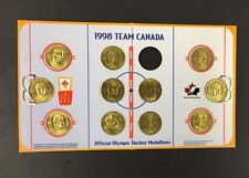 1998 McDonald's Olympic Team Canada Coin + Rink Board 11 Coins NHL Hockey
