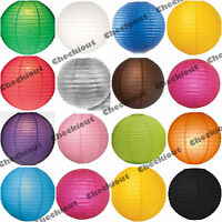 "6x 12x Round 12"" Color Paper Lanterns with LED Light Wedding Party Decoration"