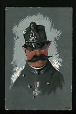 Military Postcard Police Caricature French Italian officer mustach Comical #524