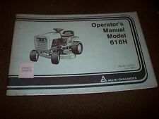 1983 Allis-Chalmers 616H Lawn Tractor Operator's Manual