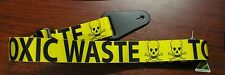 """""""TOXIC WASTE"""" GUITAR STRAP, NEW, NYLON with LEATHER ENDS,  MADE IN AUSTRALIA"""