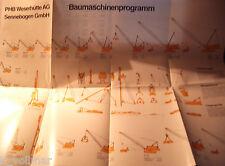 ✪Sales Brochures ORIGINAL PROSPEKT PHW Sennebogen Weserhütte produkte