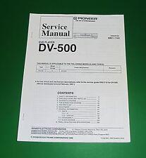 Original Pioneer DV-500 Service Manual