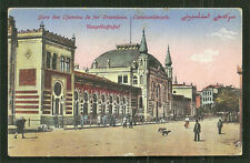 Constantinople Istanbul Main Railway Station Turkey ca 1910