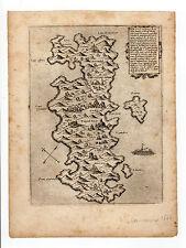 GREECE CAMOCIO 1566 MAP OF SAMOS SAMO