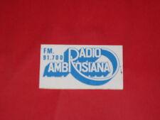 ADESIVO NUOVO ANNI 70 RADIO AMBROSIANA