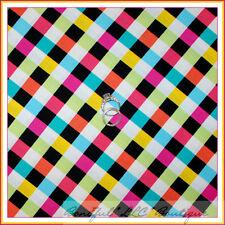 BonEful Fabric FQ Cotton Quilt Rainbow B&W Baby Clown Block Square Check Gingham