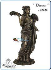 Demeter Greek Goddess Veronese, Resin Bronze Figurine, Myths and Legends # 95859