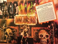 W.A.S.P., Wasp, Two Page Vintage Clipping