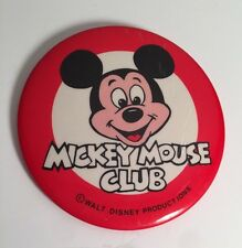 DISNEY NAME BADGE MICKEY MOUSE CLUB PIN GIFT KIDS CHILDREN