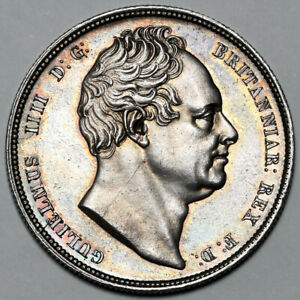 1834 KING WILLIAM IV IIII GREAT BRITAIN SILVER 1/2 HALF CROWN HALFCROWN COIN