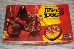 EVIL IRON REVELL 1976 MODEL TRIKE 100% COMPLETE STARTED RAREST PRESS No Barcode