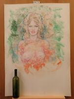 Bild Akt Frauenakt Aquarell Eis Bild Malerei Eib-Gebäude Mischhaut Der Frost P35