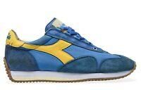 Scarpe Uomo Diadora Equipe H Dirty Stone Wash Evo Sneakers Blu Heritage Premium