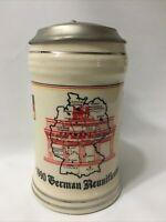 1990 German Reunification Commemorative Beer Stein Signed Numbered 341 Gerz Zinn