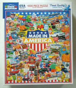 White Mountain 1000 Piece Jigsaw Puzzle - Made In America